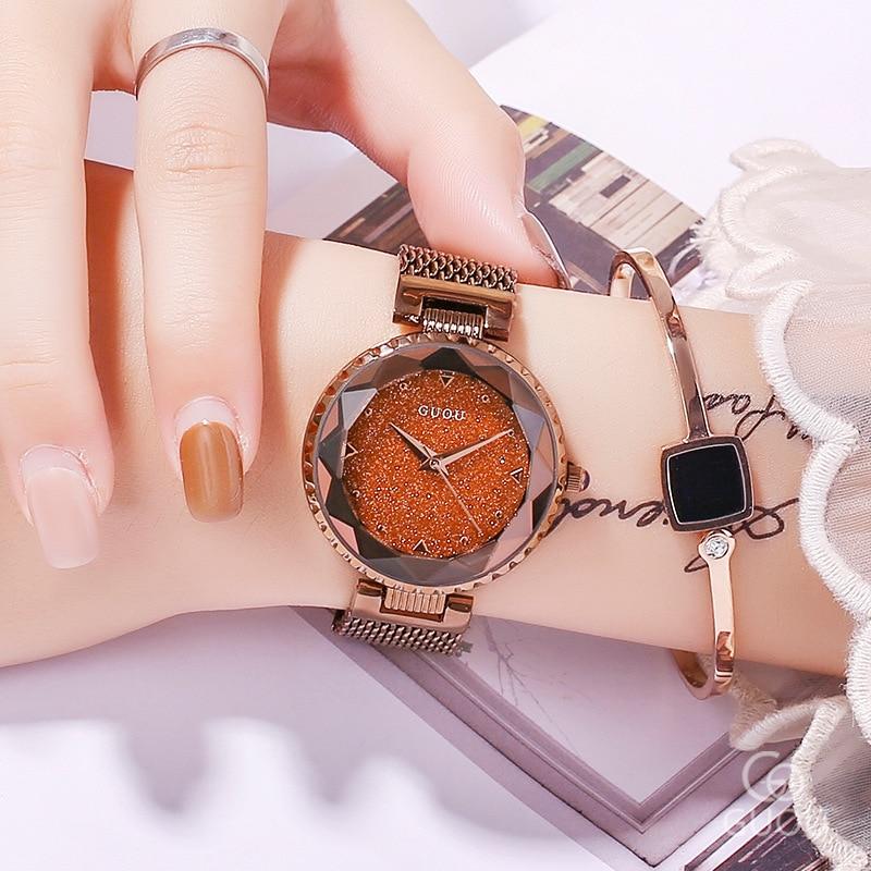 Top Brand Star Face Ladies Watch Women Fashion Rhinestone Casual Quartz Watch Female New Dress Watch Clock Stainless Steel Belt цена