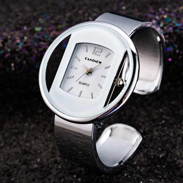 Luxury Brand Women New Fashion Bracelet Watches Silver Gold Analog Quartz Wrist