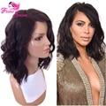 "Short Lace Human Hair Wig 100% Virgin Brazilian Hair Short Human Hair Lace Front Wigs For Black Women Natural Color 10""-16"""