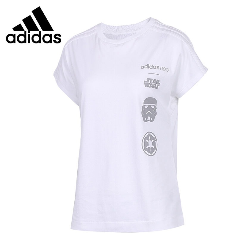Original New Arrival 2018 Adidas NEO Label SW TEE 4 Women's T-shirts short sleeve Sportswear contrast raglan sleeve high low curved hem tee page 4