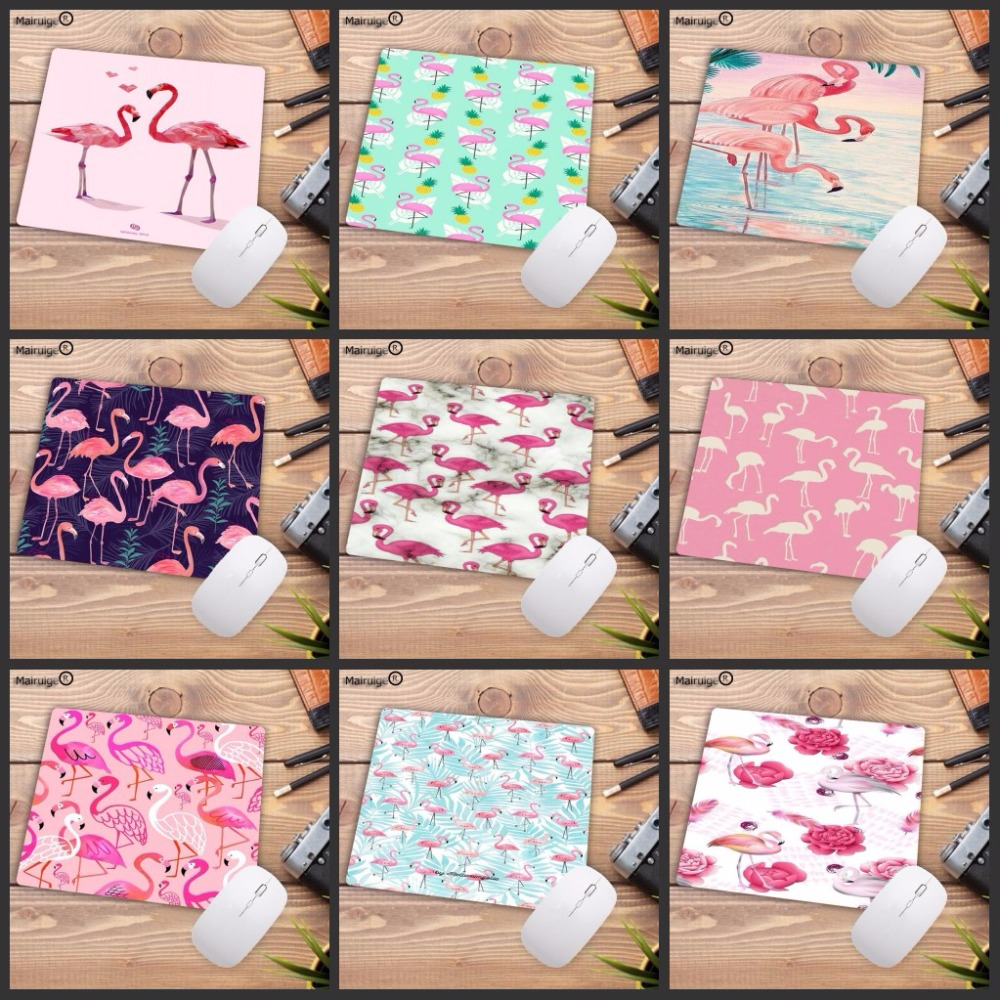 Mairuige 22X18CM Mousepad Pink Flamingo Desk Mat Surface Waterproof Anti-slip Table Mouse Pad For Working Gaming Studying