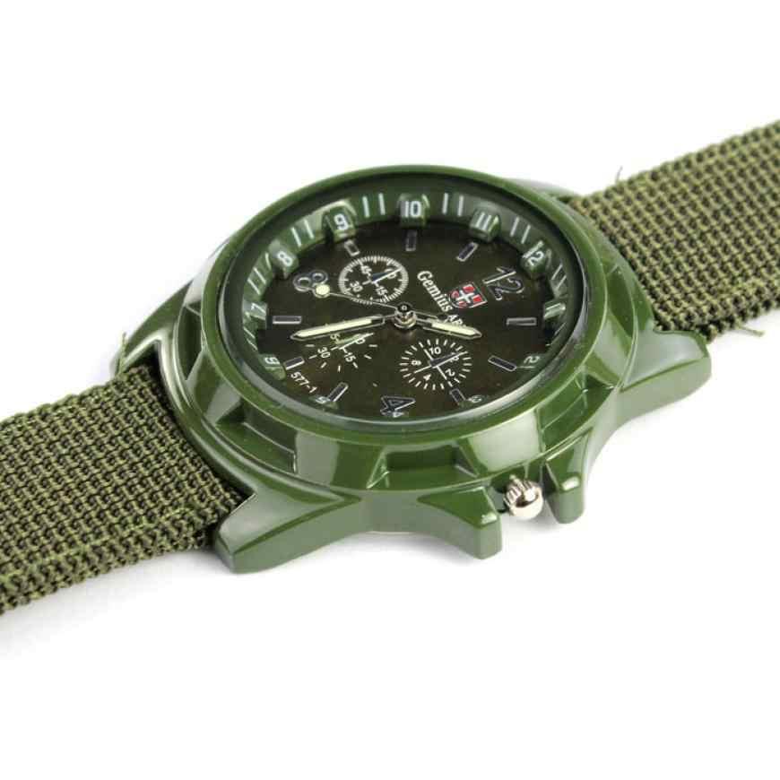 Мужские часы Reloj Gemius Army тканевые спортивные часы Megir Мода 2018 Роскошный топ бренд браслет наручные часы 18Jul18