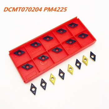 Carbide insert DCMT070204 PM 4225 new high quality external metal turning lathe tool Tokarnyy CNC milling turning insert carbide insert dcmt070204 pm 4225 internal turning tool dcmt 070204 pm4225 tool carbide metal lathe tools turning insert