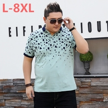 Plus 10XL 8XL 6XL New Brand Polos Mens Printed POLO Shirts Cotton Short Sleeve Camisas Polo Casual Stand Collar Male Polo Shirt