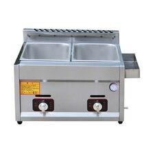 Газовая фритюрница с фильтром антипригарная варочная поверхность фритюрница из нержавеющей стали для курицы закуски картофель фри жарочная машина