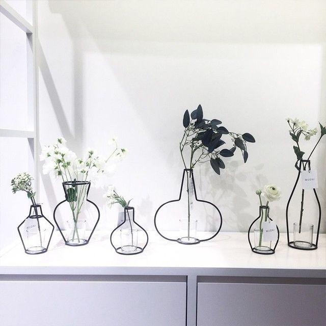Plant Pot Holders Diy: Metal Iron DIY Vase Frame Flowers Stand Plant Holder