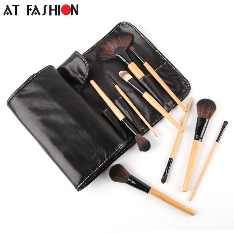 Stock Clearance!! High Quality 32Pcs Makeup Brushes Professional Cosmetic Make Up Brush Set with leather pouch drop shipping