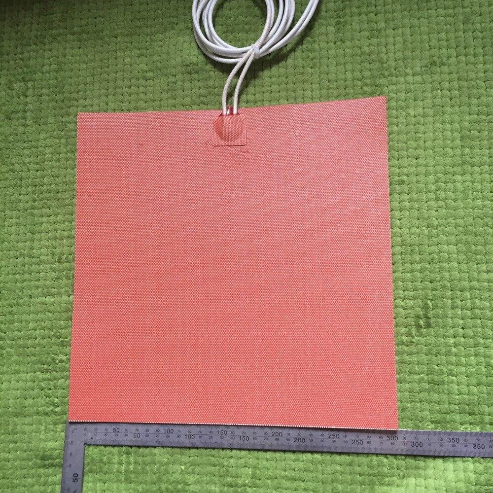 Électrique chauffe-silicone compteur de pas film chauffée Elettrico gomma di silicone letto riscaldamento 300mm x 300mm 500 w 120 v