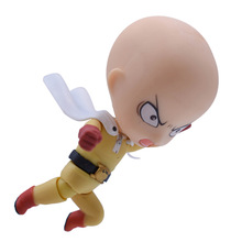 цены 10 cm Anime ONE PUNCH-MAN Saitama Nendoroid 575 PVC Action Figure Doll Collectible Model Toy Christmas Gift For Children