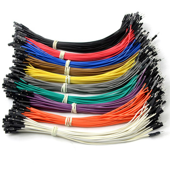 400Pcs 2.54MM 20CM Double-headed Female To Male Dupont Wire For Arduino Jumper Cable Random Color