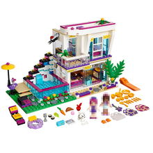 Lepin 01046 644Pcs Girl Friends Club Star Villa House DIY Set Model Building Kits Blocks Bricks Toys For Children gifts 41135