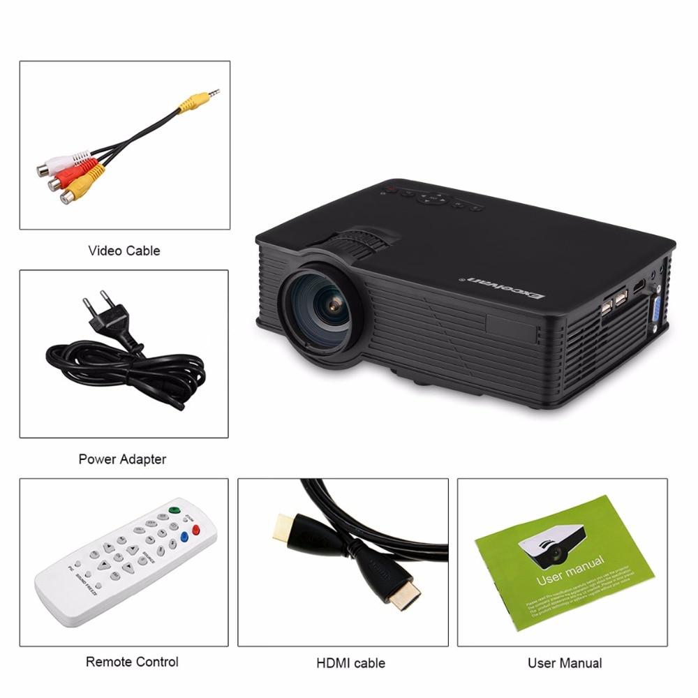 Salange P36 Мини проектор 1500 люмен Домашний кинотеатр видео проектор светодиодный проектор с Android 9,0 WiFi AV/HDMI/USB - 6
