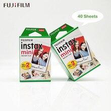 Fuji Fujifilm Instax Mini 11 9 Film 2 paczki 40 arkuszy folii do Instax Mini 9 8 7s 8 + 90 70 25 55 udział SP1 SP2 aparat natychmiastowy