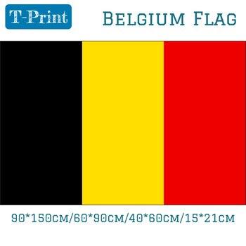 90*150 см 60*90 см 40*60 см 15*21 см 5*3 фута флаг Бельгии полиэстер баннер