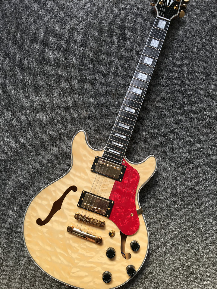 Custom Hollow body 339 Jazz Electric Guitar IN natural Custom any color guitars China Factory china oem firehawk guitar wholesale custom shop sg electric guitar active pick up any color can be changed