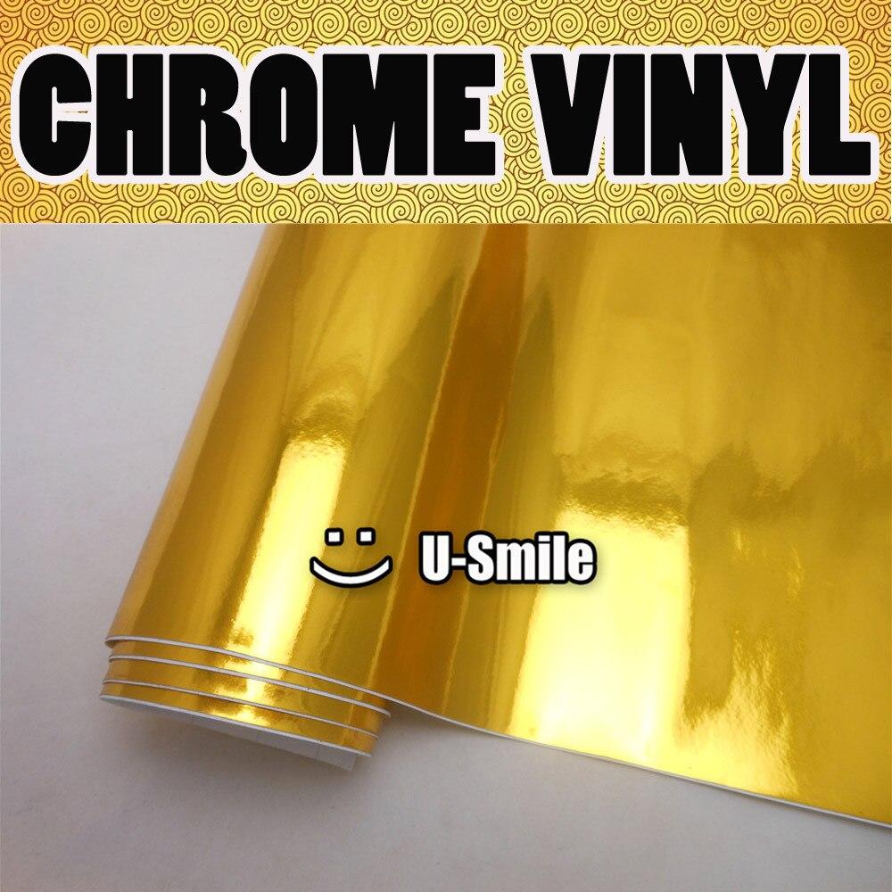 Chrome Gold Vinyl Wrap Golden Chrome Vinyl Film Air