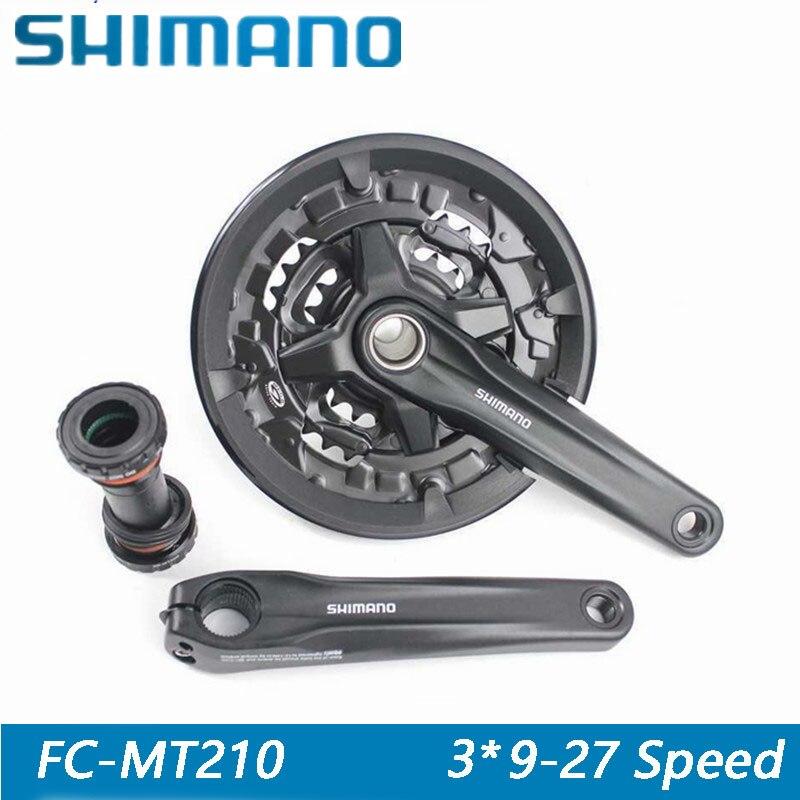 SHIMANO FC-MT210 vélo pièces accessoires vélo 9/27 s vtt vtt pignon manivelle combinaison comprend BB arbre