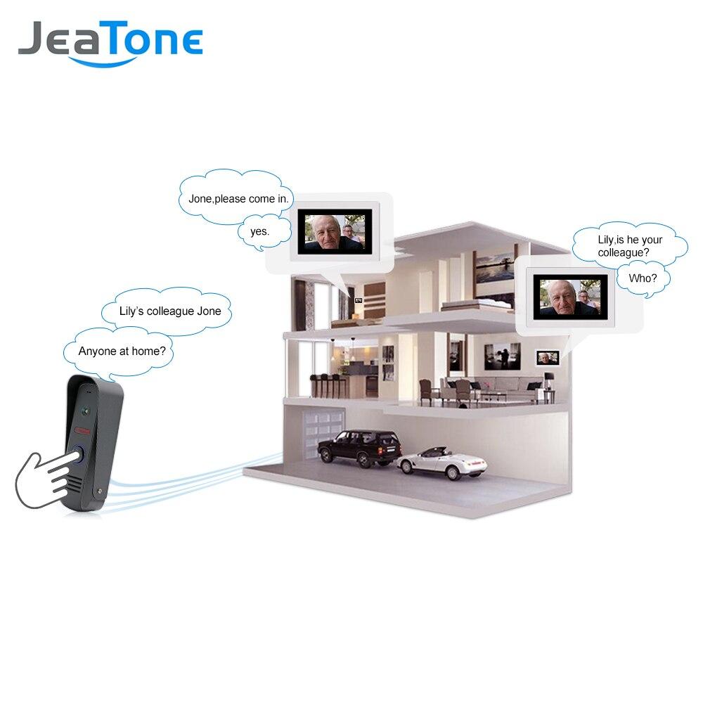 Jeatone Водонепроницаемый 7 Touch-Экран видео проводной Дверные звонки мониторинга Системы домофон с Камера дома, домофон удаленного разблокиро...