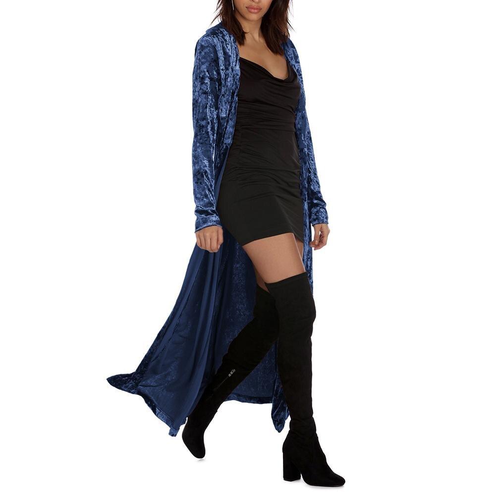 Fall Winter Women Long Coat Women Bohemian Cardigan   Trench   Coat Color Block Female Velvet Patchwork Overcoat Free Shipping