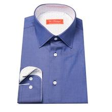 pure cotton jeans blue men s formal business dress shirt bespokes custom tailor made MTM man