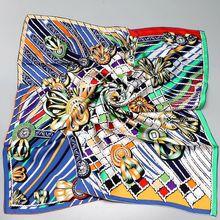 HANSCARF 正方形の絹のスカーフ女性 90*90 センチスカーフバンダナヒジャーブ 100% シルクツイルスカーフ & ラップショールスカーフ 2017 新ファッションプリント
