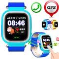 Gps/wifi/gprs rastreador smart watch jm12 para o miúdo criança crianças seguras locator sos gsm cartão sim de telefone para ios android htc Smartwatch