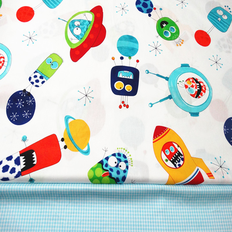 Cotton cotton twill cloth baby bedding fabric cartoon for Cheap sewing fabric