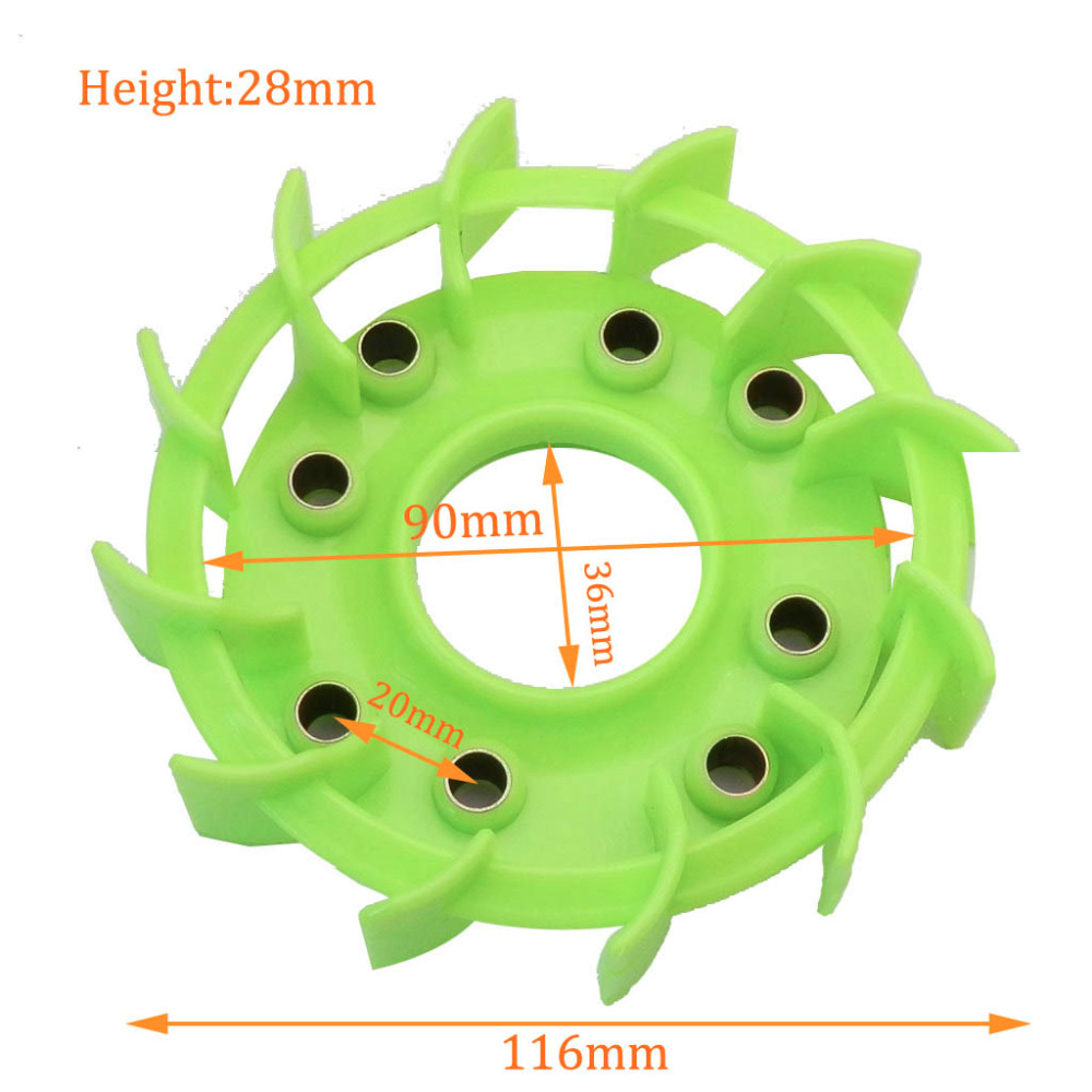 High Performance Cooling Fan For Motorcycle Scooter Moped Go Cart Honda DIO 125 GY6 50cc  139QMB 152QMI 157QMJ Parts