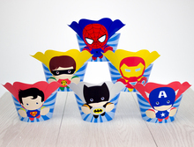 Avengers Cupcake Toppers Wrappers