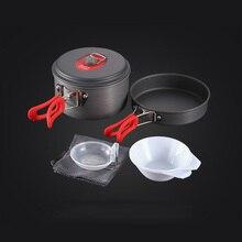 ALOCS CW-S03/C29 Сверхлегкий походный набор кухонной посуды для кемпинга инструменты для приготовления пищи набор для пикника кастрюля посуда для 1-2 человек