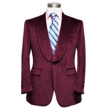 HUNDERSFIELD CLOTH burgundy / RED WINE velveteen man's wedding / evening dinner suit, custom tailor made MTM suit free shipping