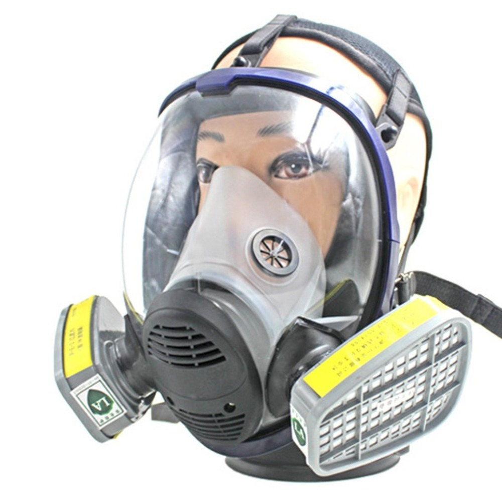 Full Facepiece Respirator Gas Mask Anti-dust Anti Acid Gas Safety Mask with Filter for Industry Painting Spraying 9 in 1 suit gas mask half face respirator painting spraying for 3 m 7502 n95 6001cn dust gas mask respirator