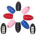 3 4 BUTTON SILICONE CAR KEYLESS FOB COVER FIT FOR INFINITI EX35 FX50 G25 G37 M35H M45 M56 Q60 QX50 QX70 JX35 REMOTE CASE HOLDER