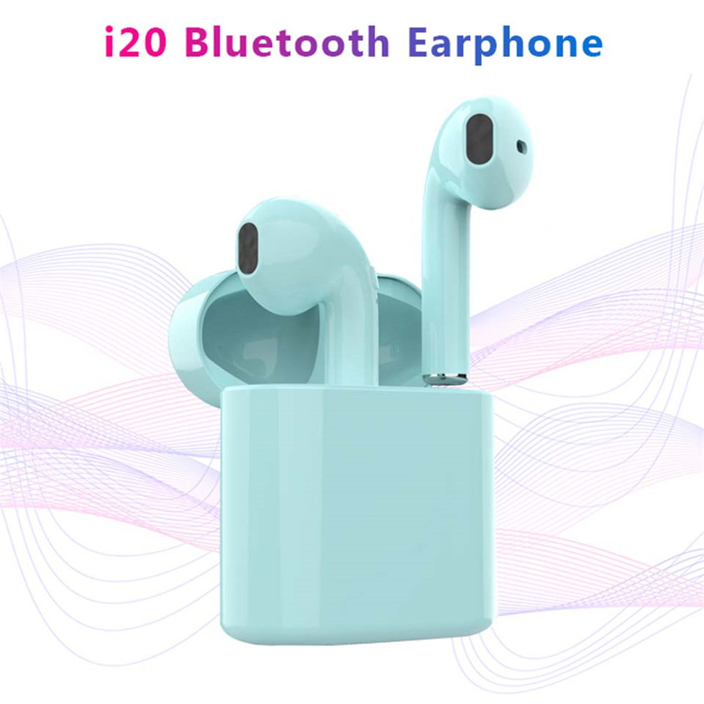 i20 <font><b>TWS</b></font> <font><b>Wireless</b></font> <font><b>Bluetooth</b></font> <font><b>5.0</b></font> Earphone Mini <font><b>Earbuds</b></font> With Mic charging box Sports Cordless Headset PK <font><b>i9s</b></font> <font><b>i10</b></font> i12 i16 image