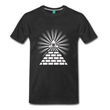 T Shirt Graphics  Crew Neck All Seeing Eye Short Sleeve Design Shirts For Men