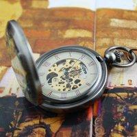 2010 COPPER JADE COLOR PATTERN MECHANICAL POCKET WATCH Freeship