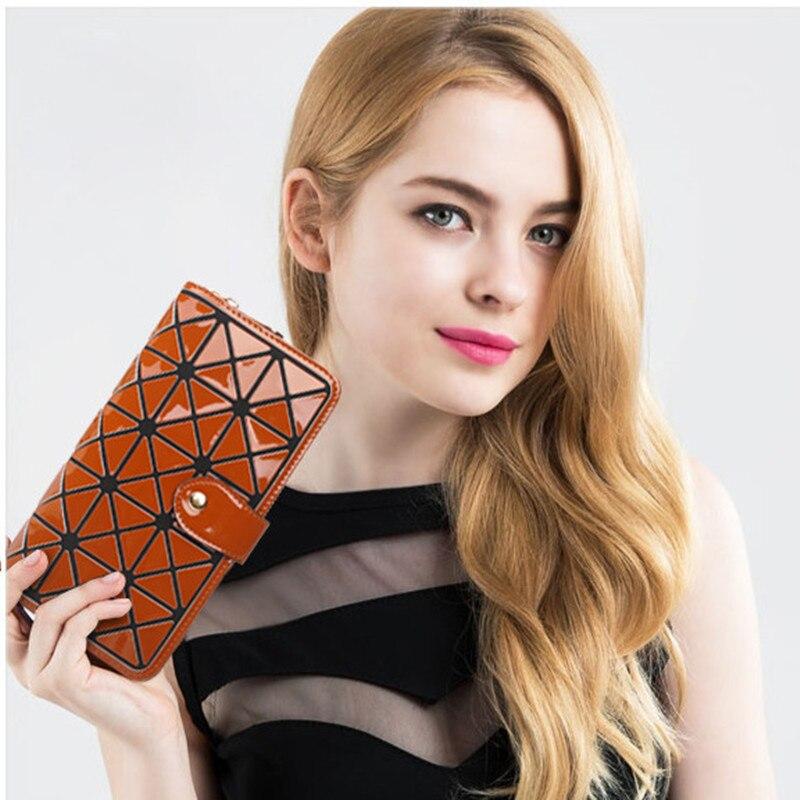 Women Wallet Geometric Long women's Purses Japan purse female Wallets Money Bag Coin Clutch Large Capacity Girls Bao Bao bag