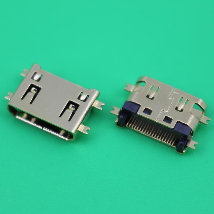 YuXi 1pcs Gold Plating Copper 19Pin MINI HDMI Female Socket 8.5mm Sinking Plates SMT
