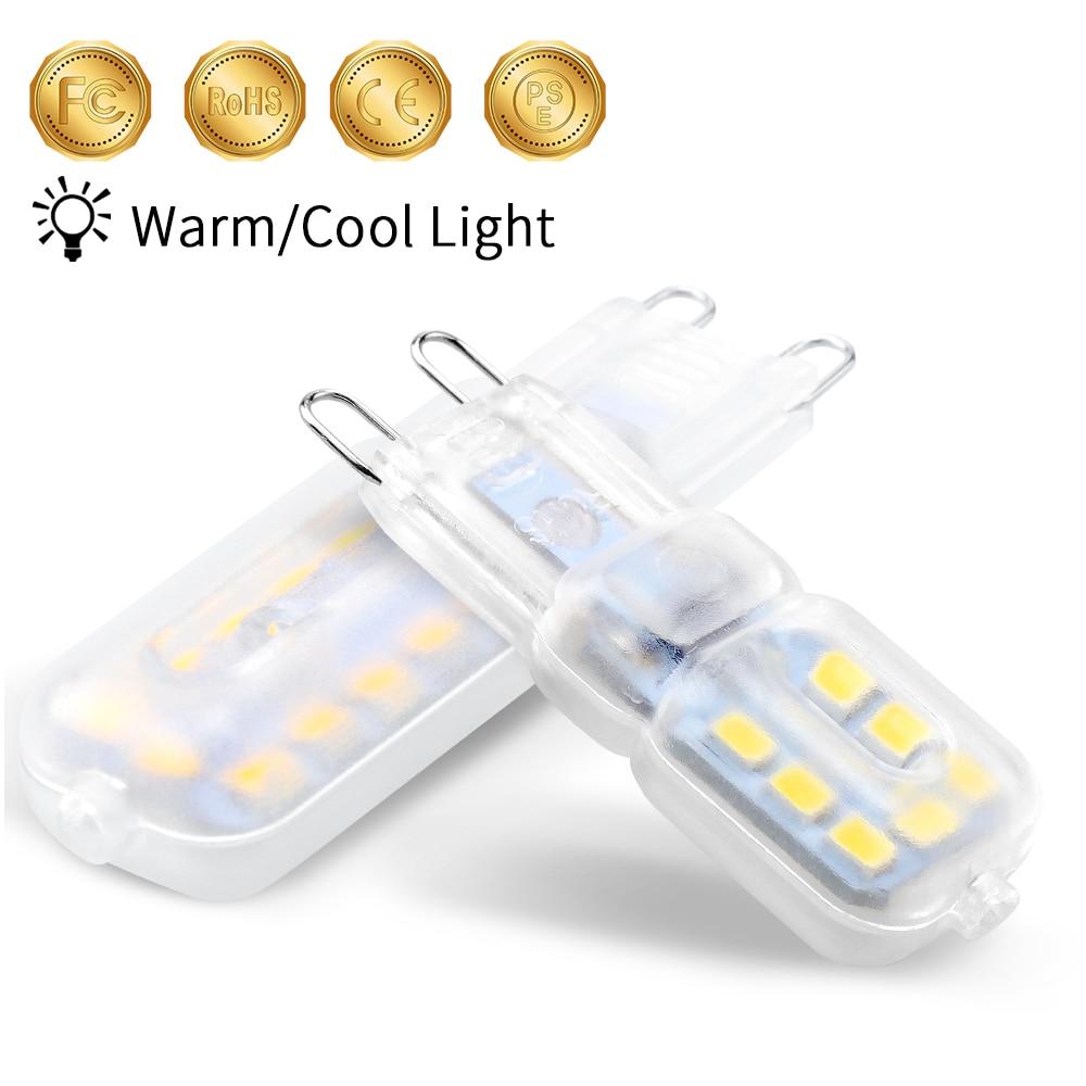 Ampoule Led G9 LED 220V Lamp G9 Light For Home SMD 2835 High Brightness Mini G9 Led Bulb 3W 5W Chandelier Replace Halogen Lamps in LED Bulbs Tubes from Lights Lighting