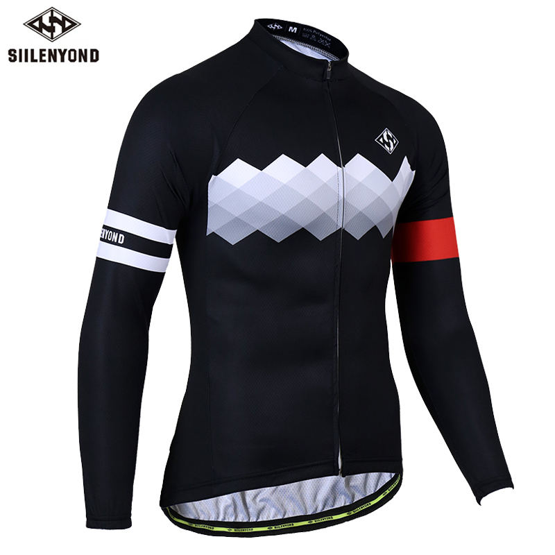 купить Siilenyond Long Sleeve Cycling Jersey MTB Bicycle Cycling Clothing Bike Clothes Cycling Wear For Man Ropa De Ciclismo Hombre по цене 1244.35 рублей
