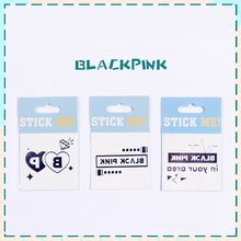 New Blackpink Black Pin Jinnie Rose Lisa Jisoo Album Cute Tattoo Sticker Paste Lovely Waterproof Face Sticker K-pop Gift(China)