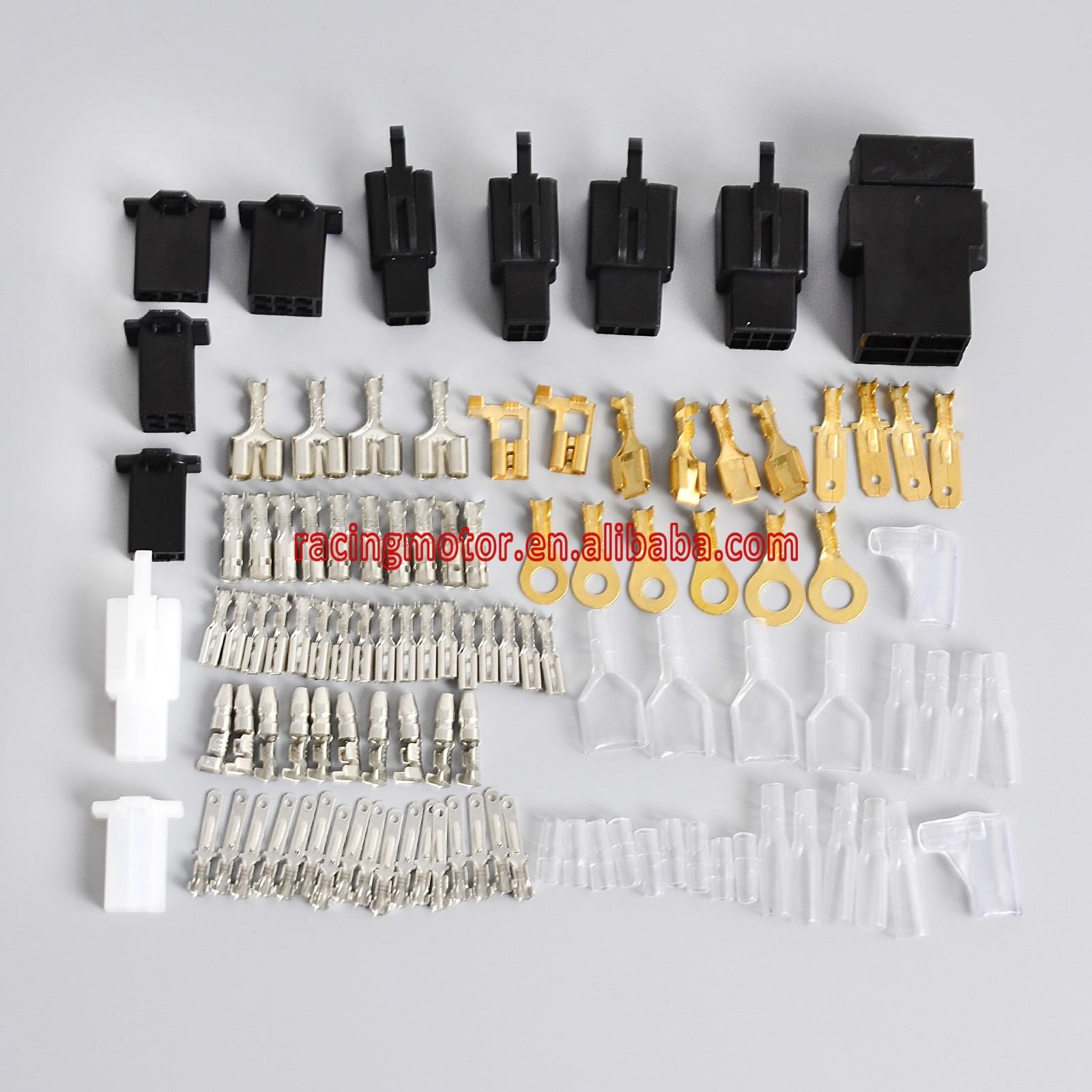Motorcycle Electrical Wiring Harness Loom Repair Kit Plugs