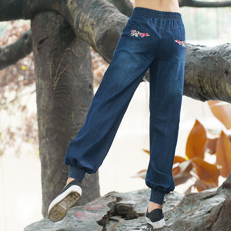 Ženske hlače Woman Femme Harem Ženske traperice Cvjetne vezene - Ženska odjeća - Foto 4