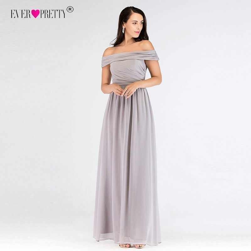 3b7d5da72bf2a43 Серое длинное вечернее платье недорогое красивое женское элегантное  вечернее платье трапециевидной формы из шифона с открытыми