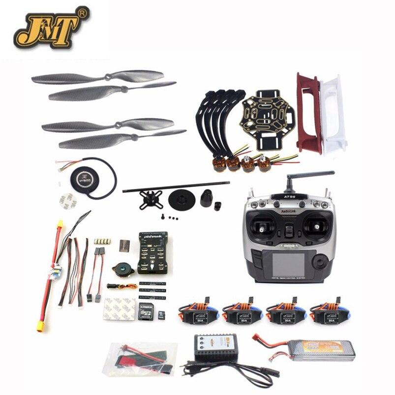 купить JMT DIY FPV Drone Quadcopter 4-axle Aircraft Kit 450 Frame PXI PX4 Flight Control 920KV Motor GPS AT9s Transmitter Props недорого