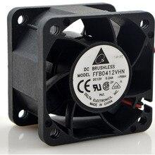 DELTA FFB0412SVHN компьютер Вентилятор охлаждения осевой вентилятор DC 12 В 0.24A 4028 40*40*28 мм 2 провода