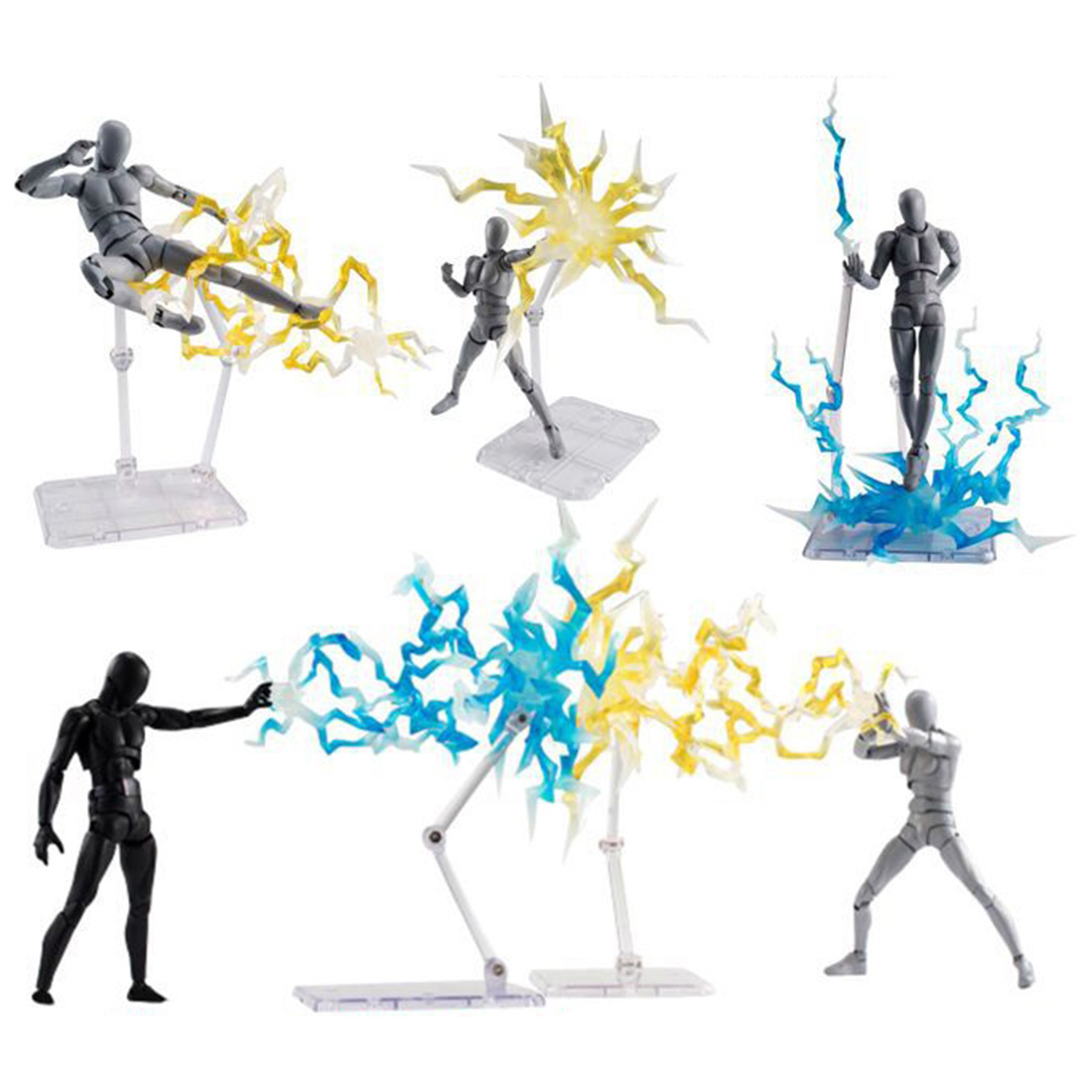 Lightning Special Effects Part For EFFECT IMPACT 1/6 Figure - Transparent