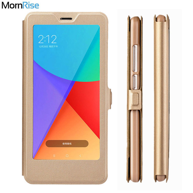 separation shoes fa4d0 7ca56 US $3.37 25% OFF|Luxury PU Leather Smart Flip Cover For Xiaomi Redmi Note 5  Case Stand Magnet Window Views For Xiami MI Redmi 6 Pro Note 6 Cases-in ...
