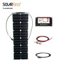 40 Вт etfe гибкие солнечные панели сотового электроэнергии системы car/RV/яхта 12 В контроллера заряда батареи крепление кабеля солнечных панелей
