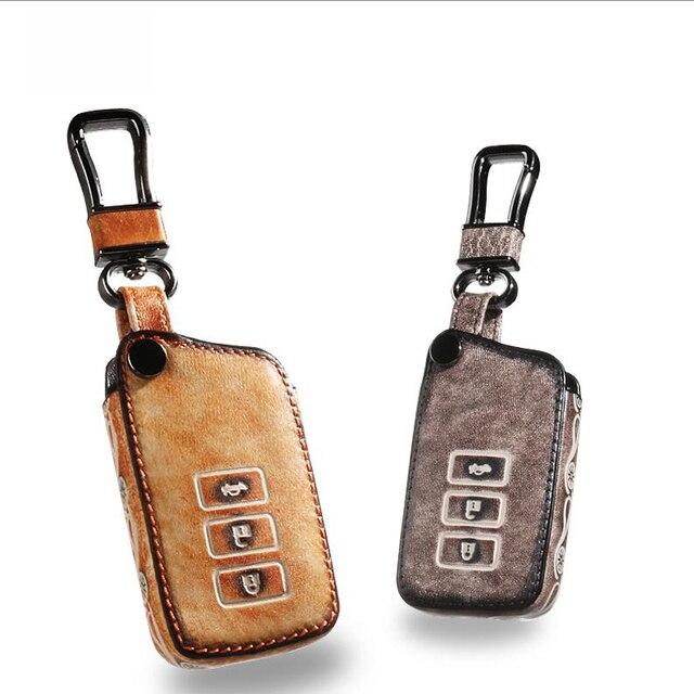 Кожа Ключа Автомобиля Брелок Брелок Крышки Случая бумажник для Lexus RX270 IS250 RX350 CT200H ES250 ES350 RX300 RX NX GS Брелок Держатель мешка